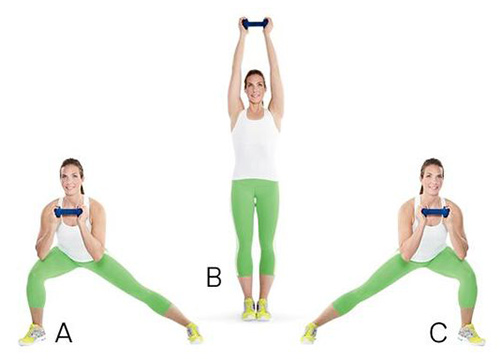 حرکات جهشی بدن به سمتهای مختلف